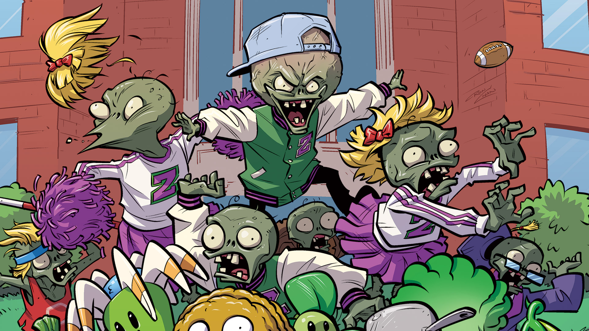 Ron Chan Dark Horse plants vs zombies
